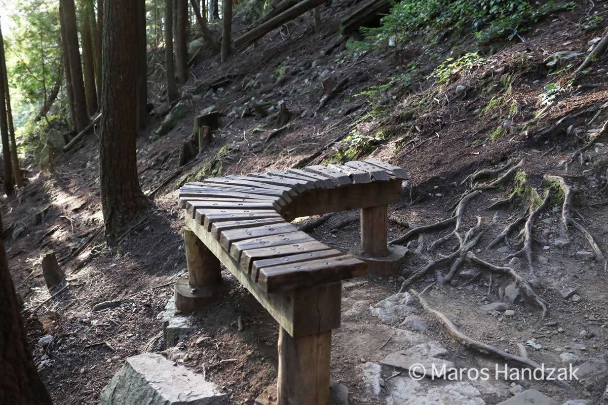 Grouse Mountain -Wooden Bench