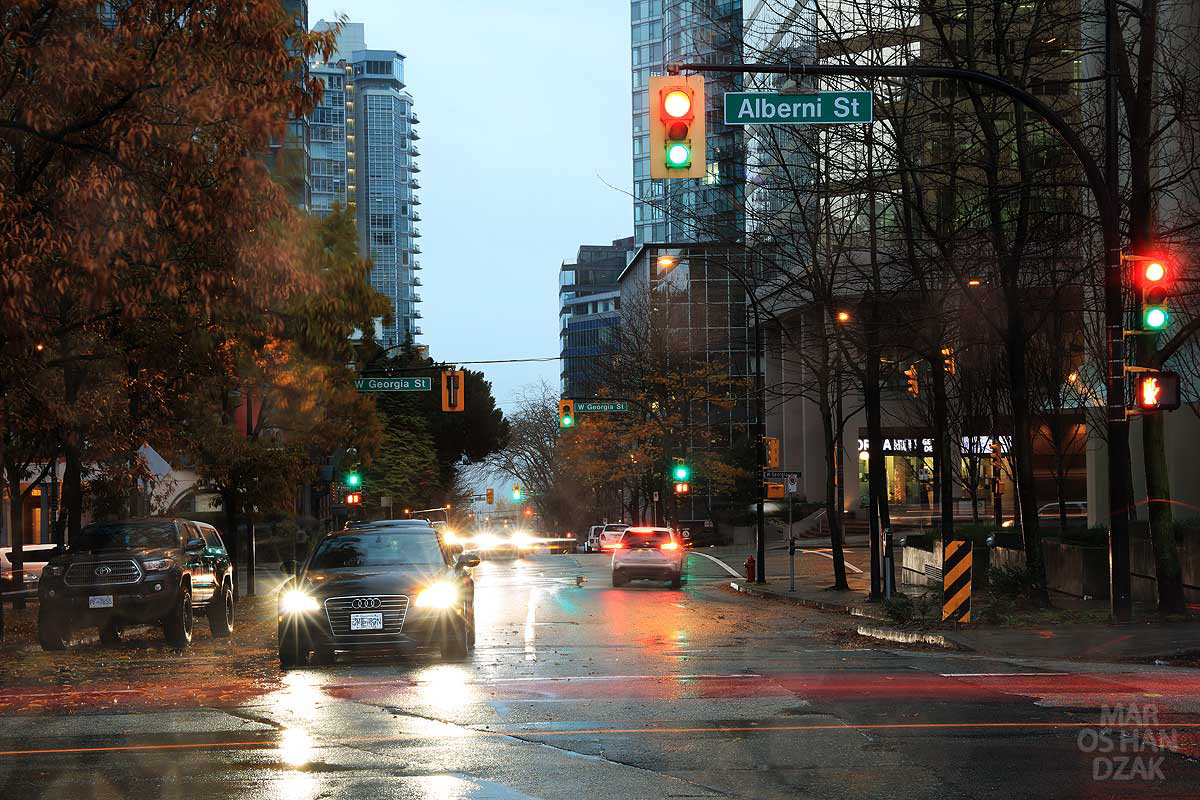 Bute and Alberni Streets in Vancouver